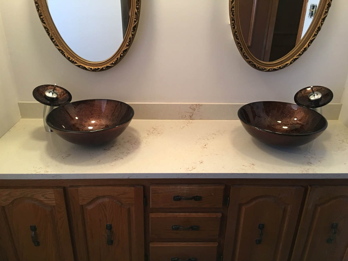 Mirror with sink